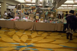 As you can see, the Exhibit Hall/ Artist's Alley weren't exactly shoulder to shoulder with customers.